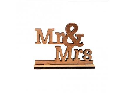 drevo napis MR a MRS