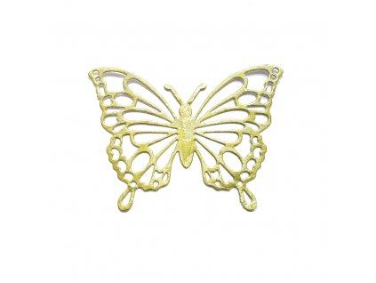 dekorace motýl velký zelený