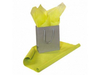 Hedvábný papír Kanárkově žlutý