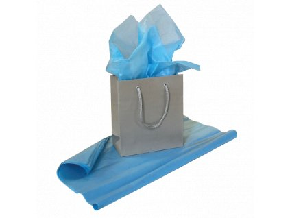 Hedvábný papír Světle modrá