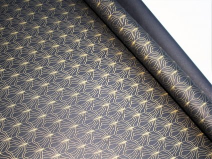 balici papir lux cerny se zlatym ornamentem
