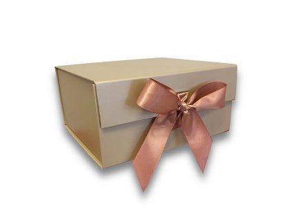 dárkova krabicka magneticka creme kremova zlata