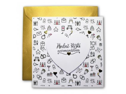 Svatební přání doodle