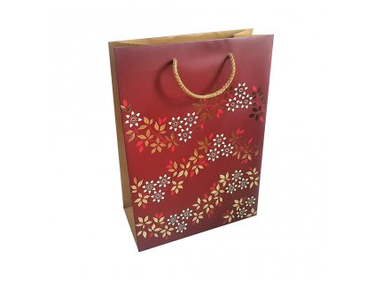 Darkova taska cervena s kvety