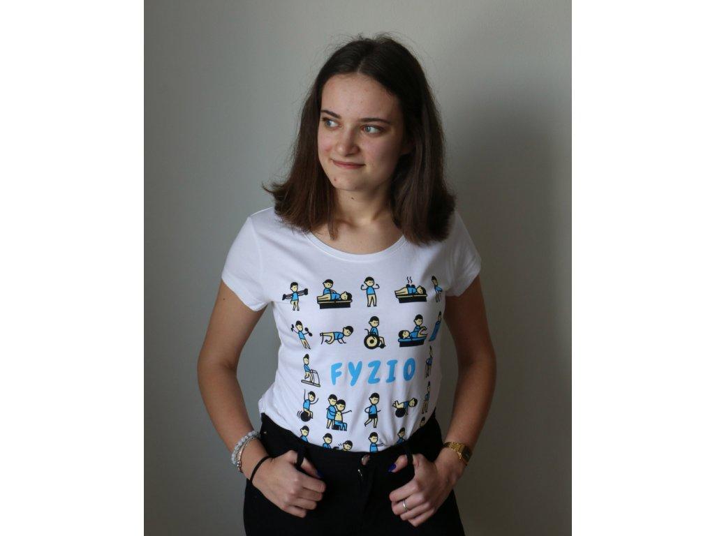 Fyzio tričko panáčikovia dámske