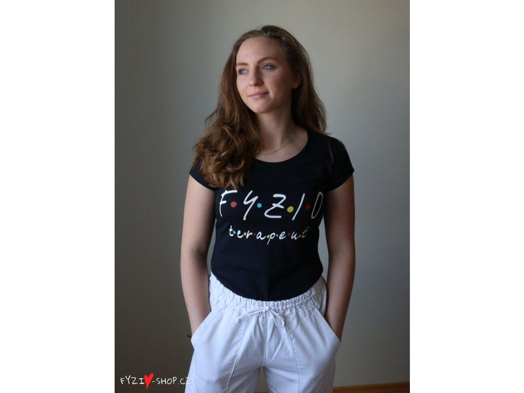 Fyzio tričko dámske čierne