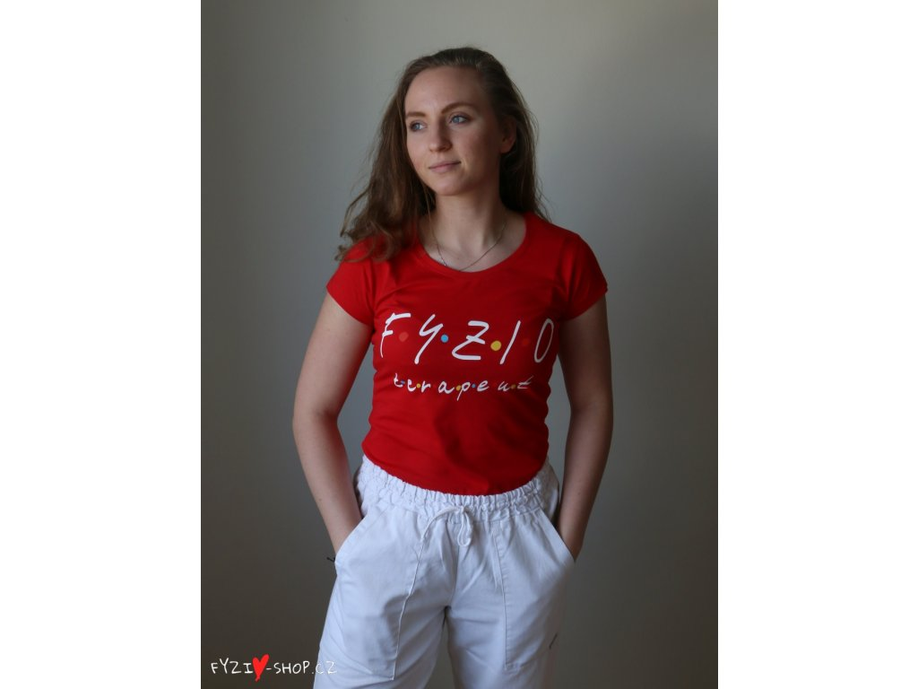 Fyzio tričko dámske červené