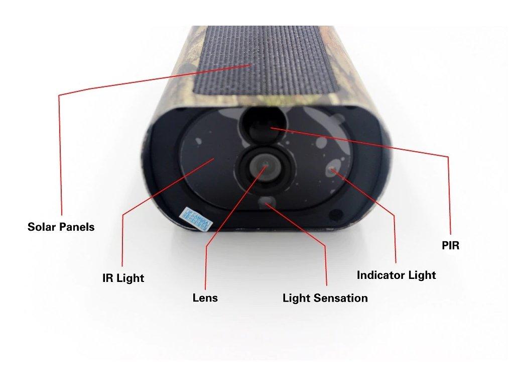 WiFI IP venkovní kamera se solárním dobíjením a PIR senzorem, SD až 128GB