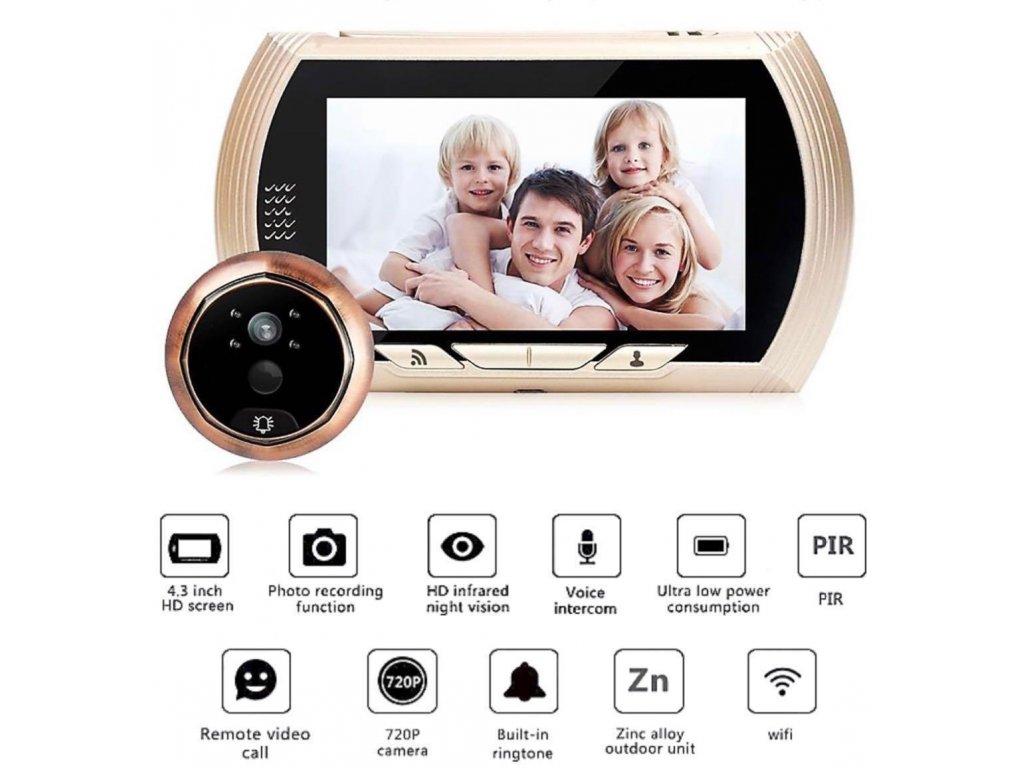 smart wifi wireless door viewer doorbell camera with 43inch display screen with rechargeable built i 1559734774 30fe1dfb progressive