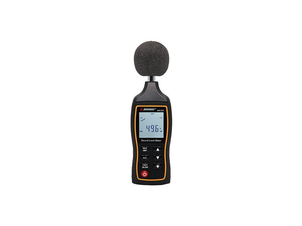 Hlukoměr digitální pro měření hladiny hluku 30~130dB SNDWAY SW-523