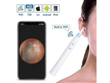 wifi otoscope 720p wireless ear endoscope camera led cleaning tool uniqfactory 1906 09 uniqfactory@2