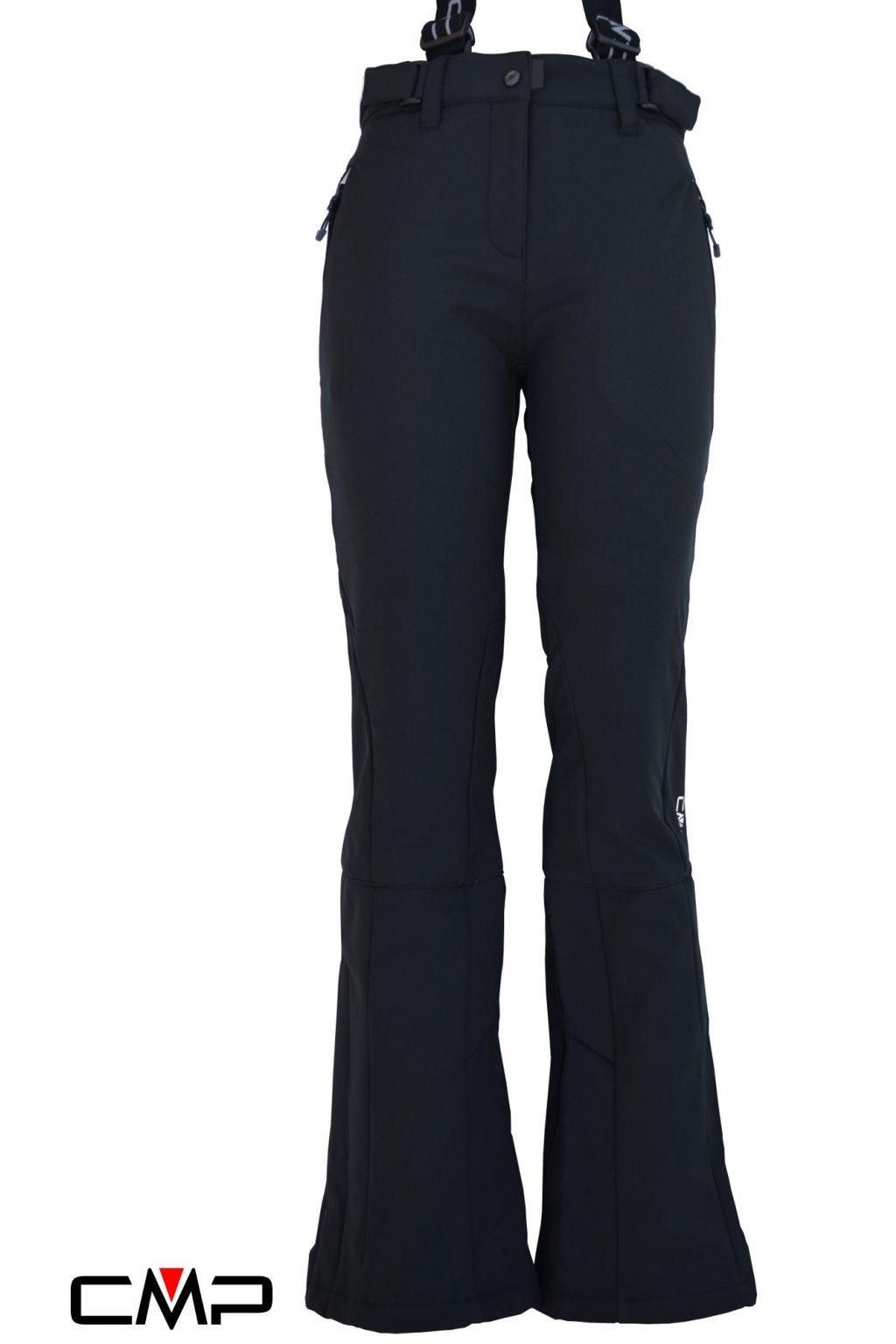 3w03106 cierne damske lyziarske nohavice cmp ski salopette