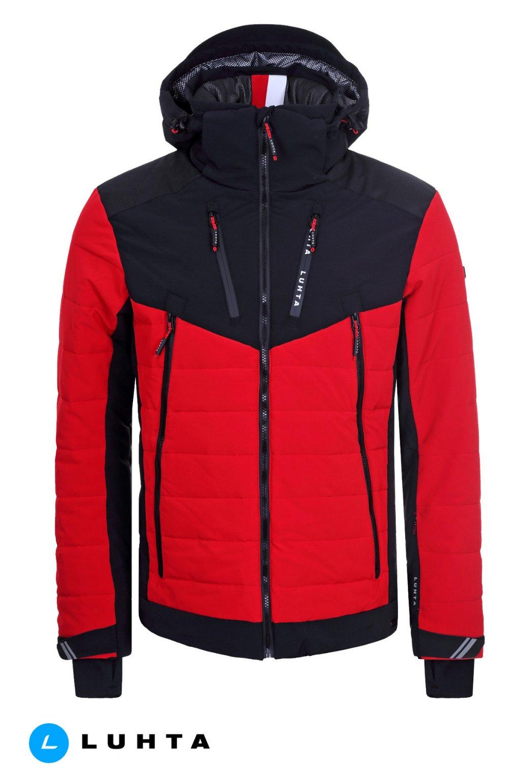 434505 panska lyziarska bunda luhta kurhila cervena