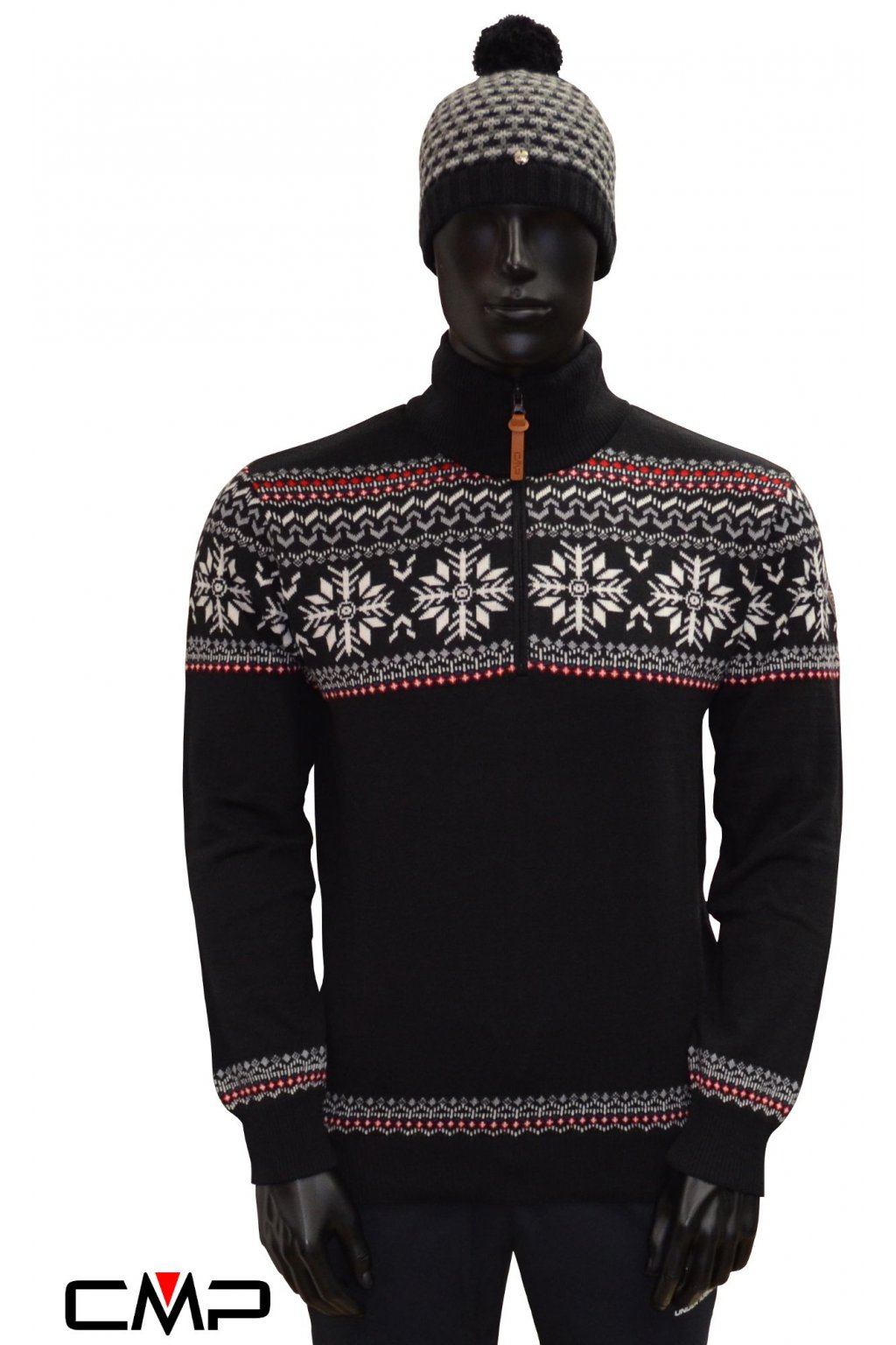 7h17921 pansky pulover cmp man knitted pullover black