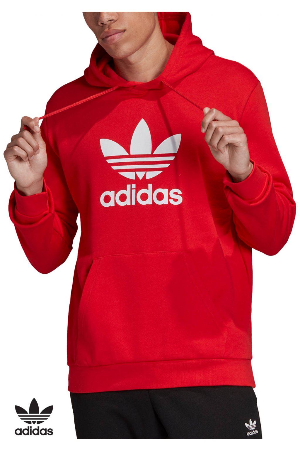fm3783 mikina adidas trefoil warm up hoodie red