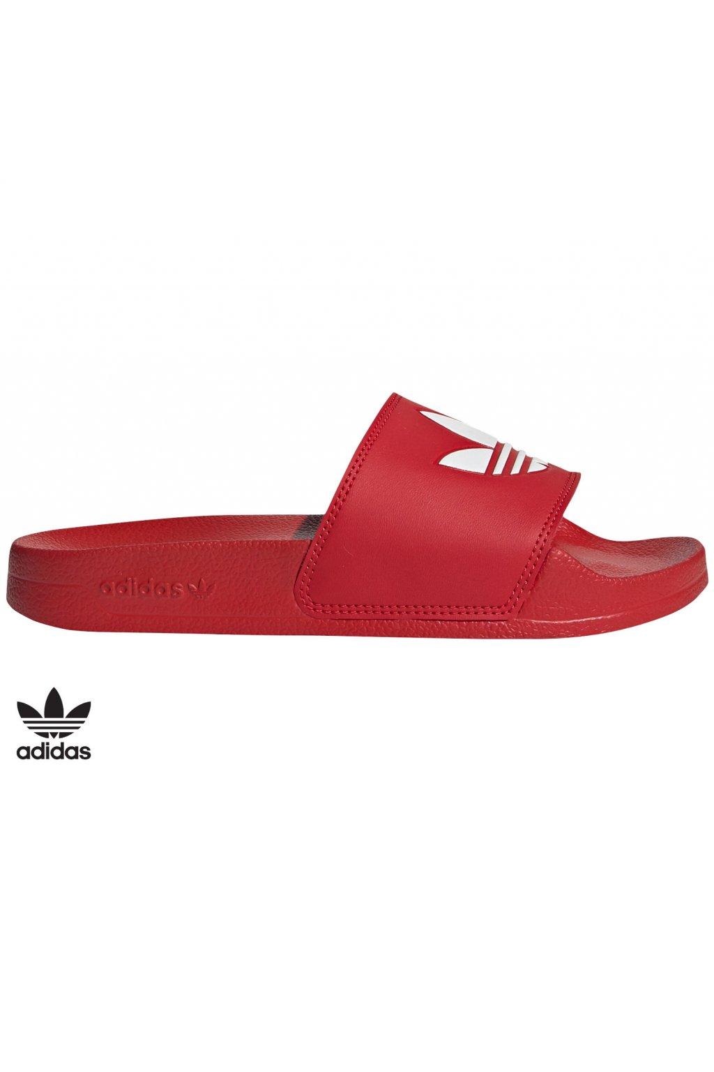 fu9179 juniorske slapky adidas adilette lite cervene