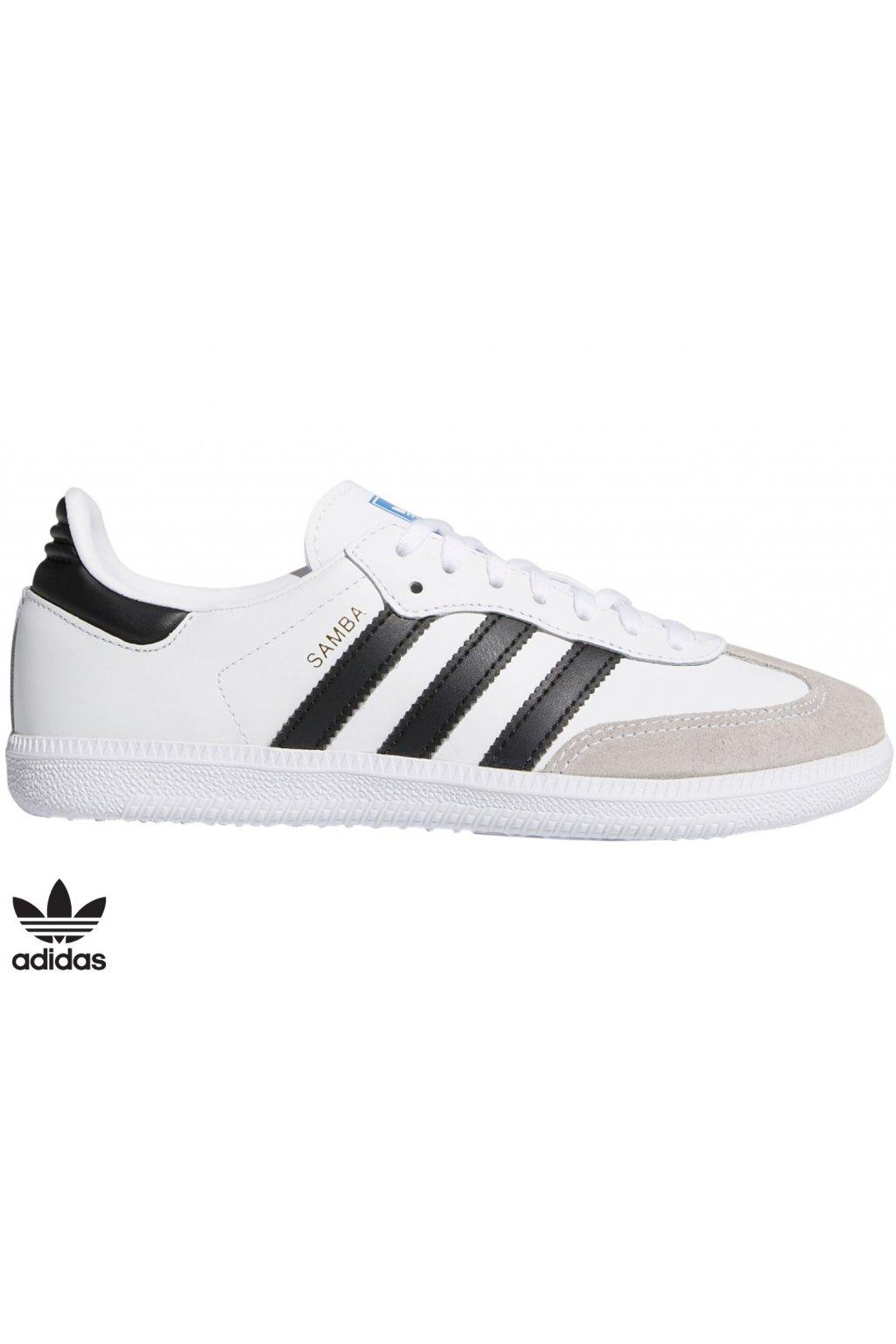 bb6976 juniorske tenisky adidas samba biele