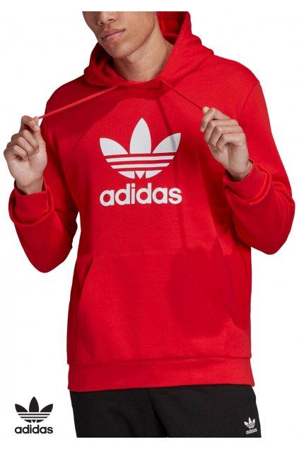 fm3783 mikina adidas trefoil warm up hoodie red