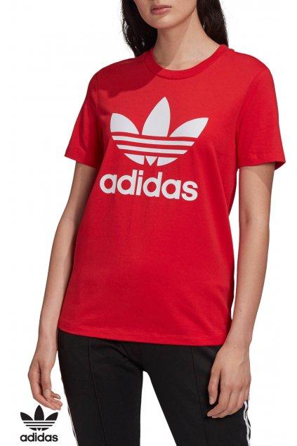 fm3302 damske tricko adidas trefoil cervene