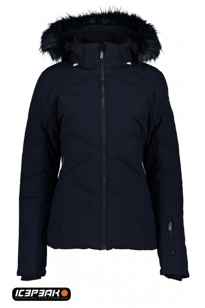 653204 damska lyziarska bunda icepeak elsah modra