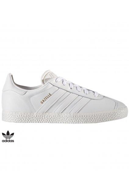 by9147 juniorske tenisky adidas gazelle biele