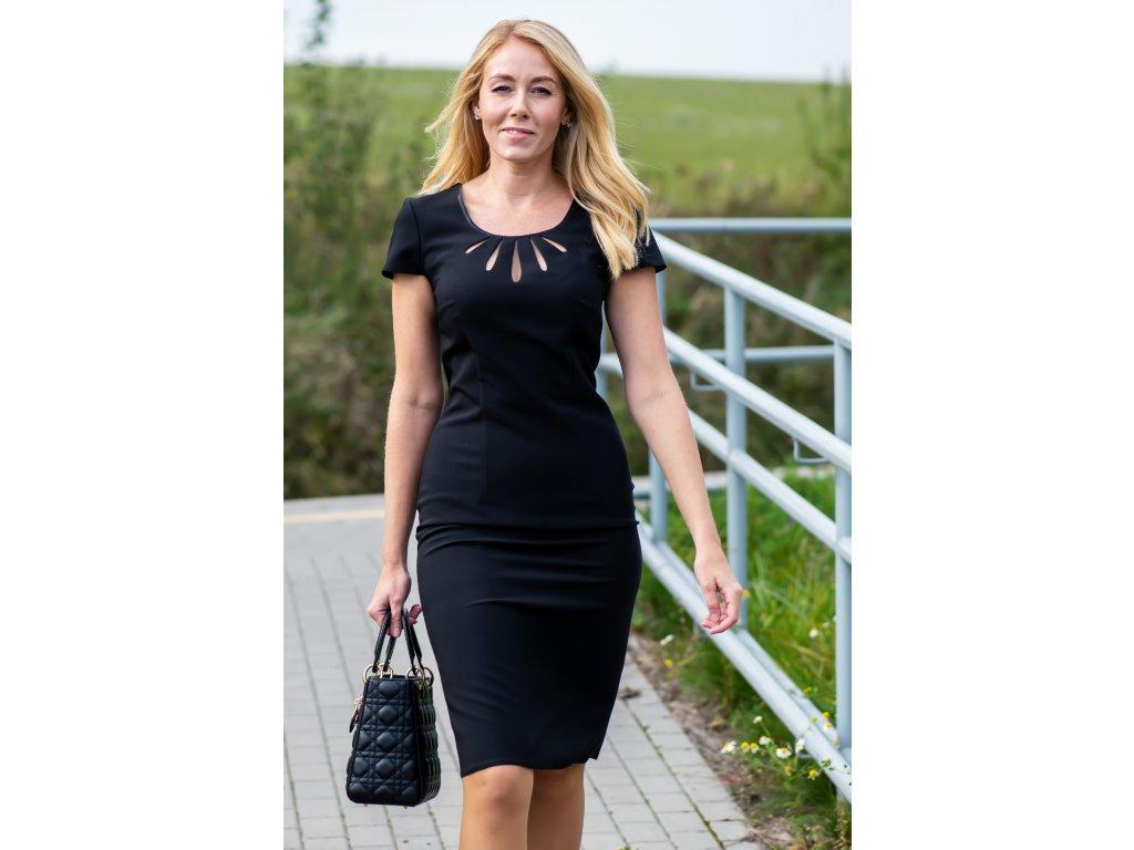 Šaty ROSE - pouzdrové šaty - černé