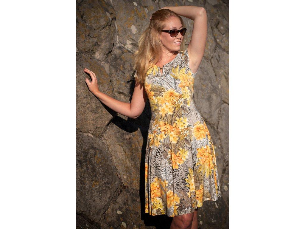 Šaty GAJA - letní žluté šaty