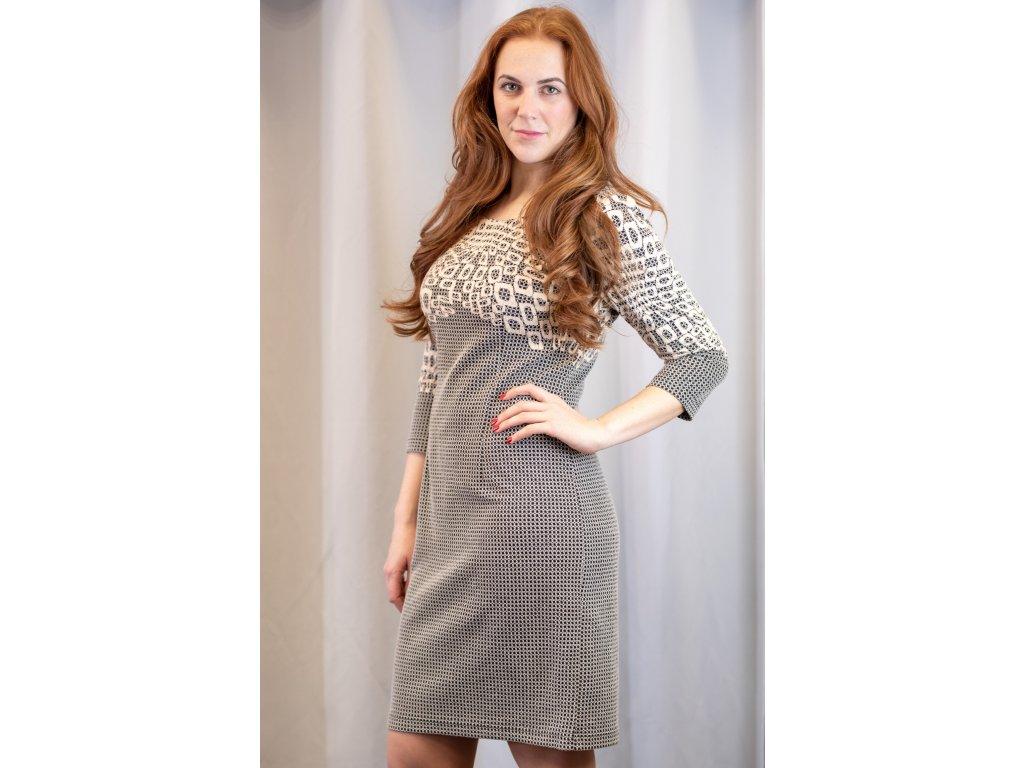 Šaty MARGIT - úpletové šaty s 3/4 rukávem