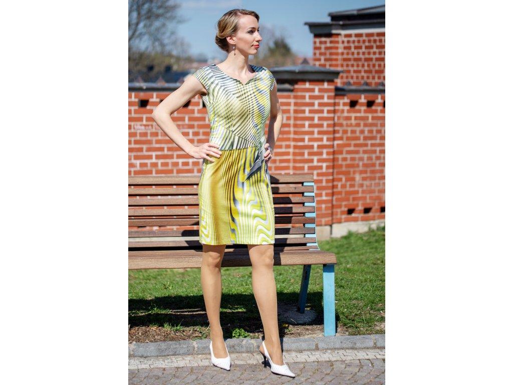 Šaty NERA - princesové šaty - žluté