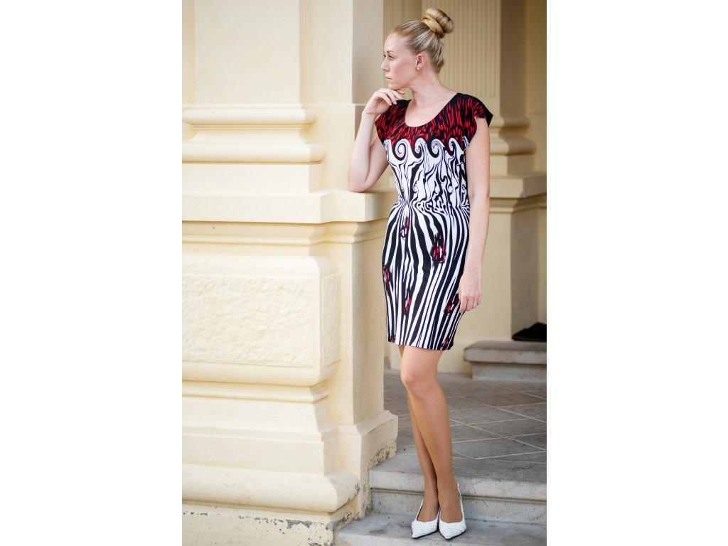 Šaty ADÉLA- šaty s módním vzorem
