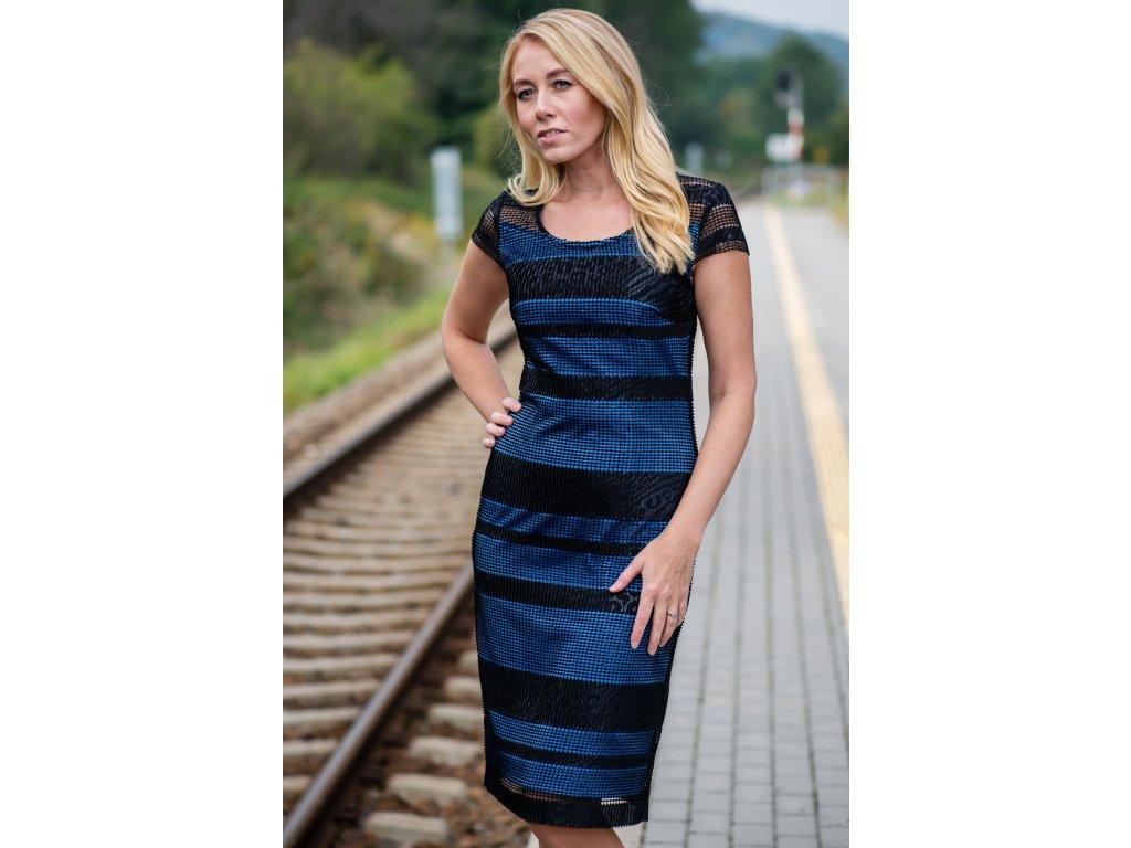 Šaty ŽANETA - elegantní šaty pouzdrového střihu