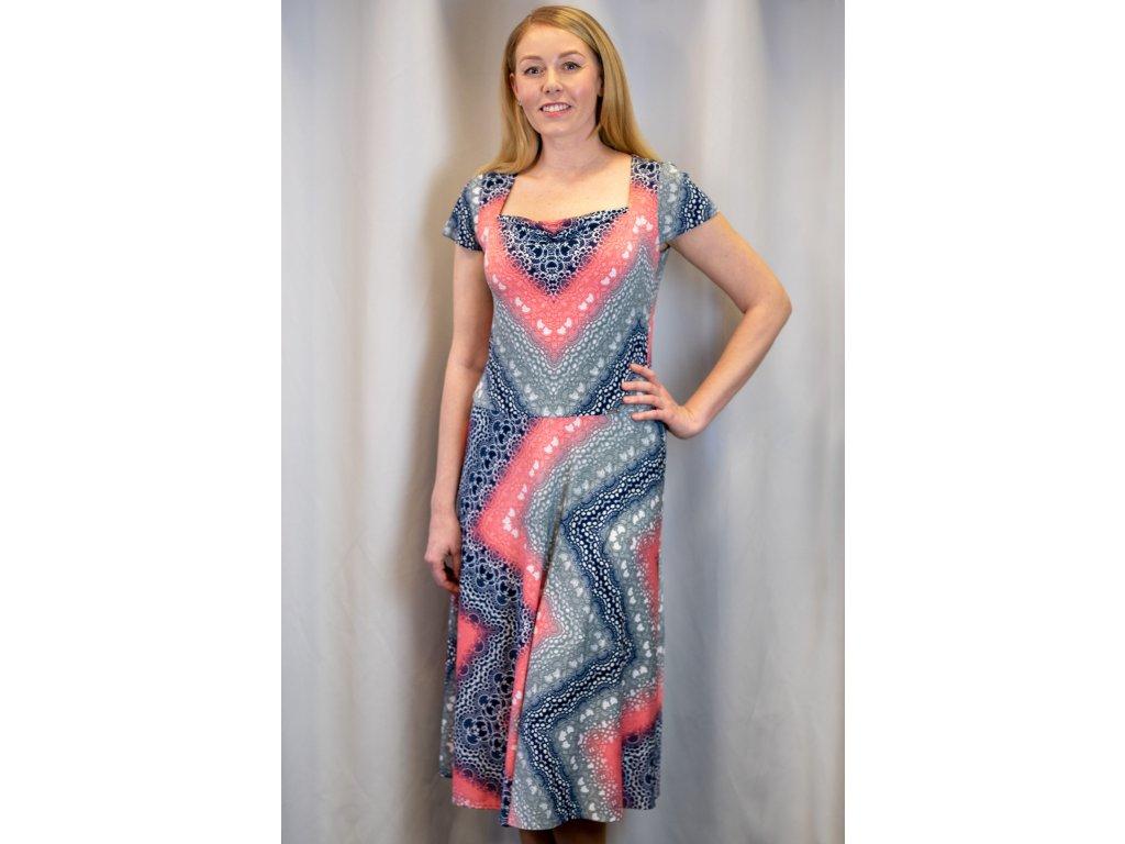 Šaty JARKA - midi šaty - růžovošedé