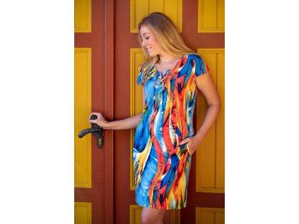 Šaty MONČA - šaty volného střihu s kapsami