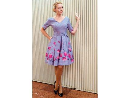 Šaty XÉNIE - šaty s balónovou sukní a s bočními kapsami