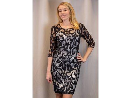Šaty BIBA - společenské krajkové šaty