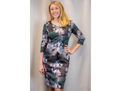 Šaty ZDENA - poudrové šaty s 3/4 rukávem
