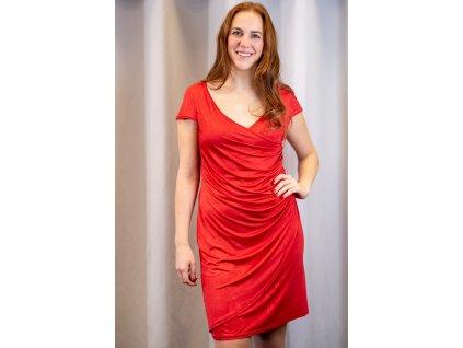 Šaty ZINA - asymetrické šaty - červené