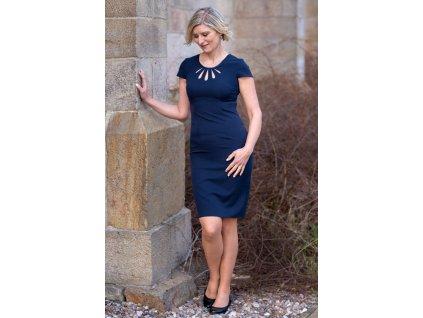 Šaty ROSE - pouzdrové šaty - modré