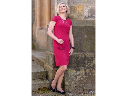 Šaty ROSE - pouzdrové šaty - bordové