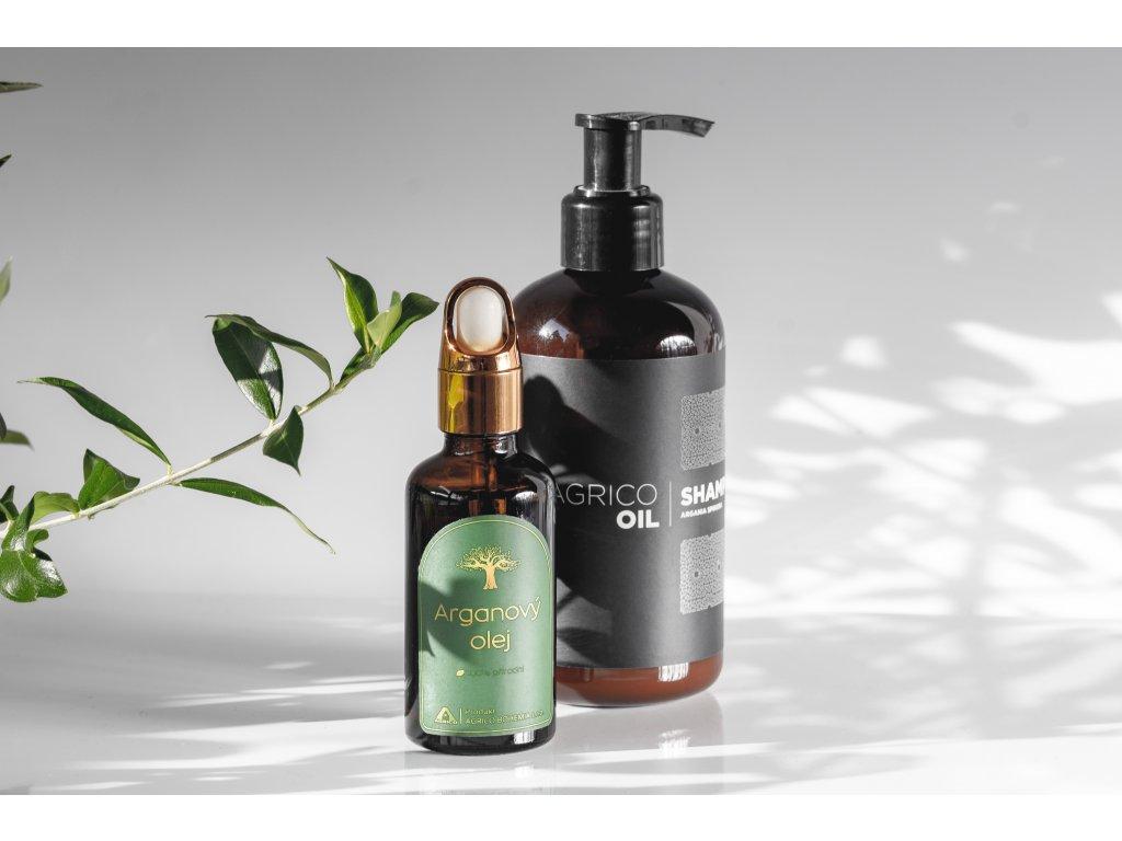 Agrico-Oil sada vlasové kosmetiky s arganovým olejem