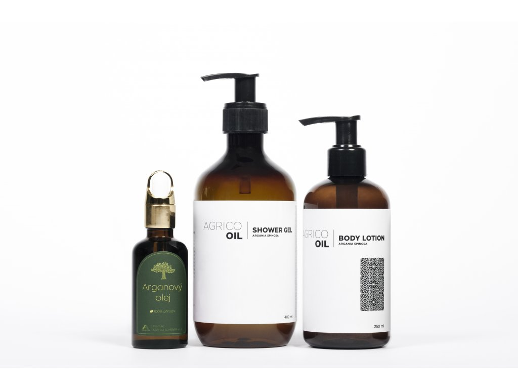 Agrico-Oil sada kosmetiky pro zdravou a hebkou pokožku s arganovým olejem