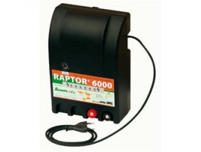 Elektrický ohradník RAPTOR+ 6000 - optická kontrola napětí 1-6 kV (určen pro skot, ovce, koně, divokou zvěř)