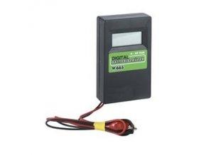 Zkoušečka na baterie se zátěží 33 Ohm, digitální, 0 - 20 V