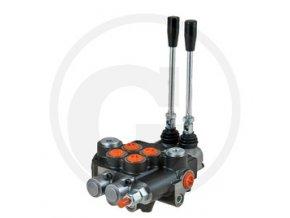 Rozvaděč P80 2x DW (A-B uzavřený / zpětná pružina)