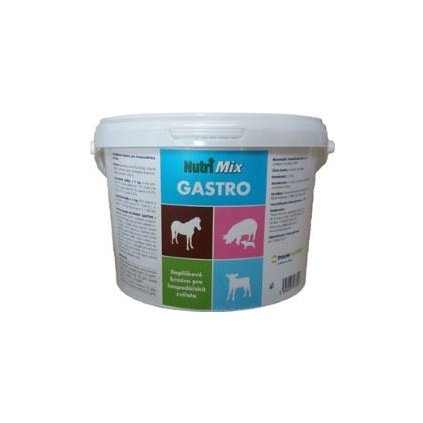 nutrimix gastro na podporu traveni pro hospodarska zviratat 2 5 kg