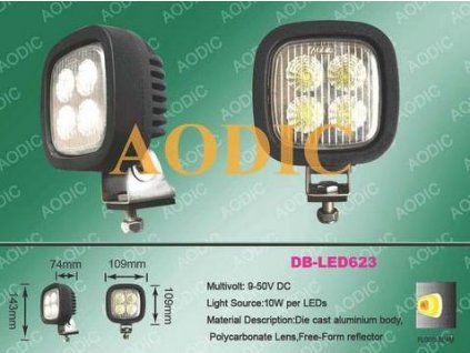 LED - pracovní světlo 40 W