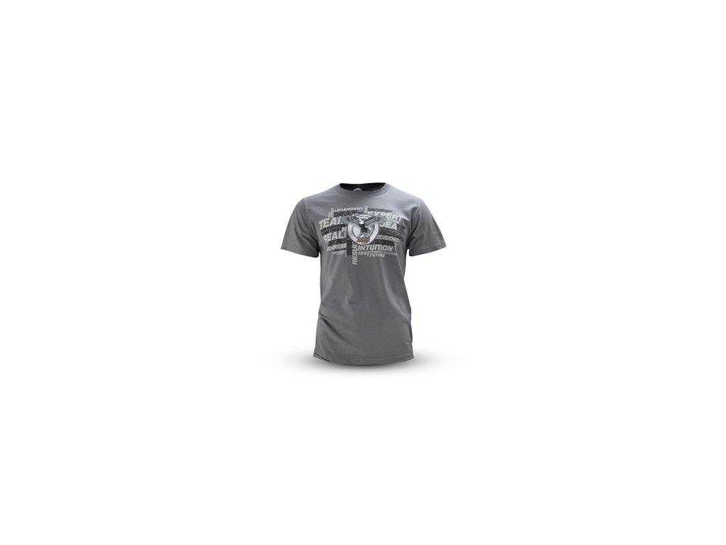 Tričko šedé logo CASE
