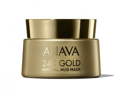 24K GOLD Mineral Mud Mask jar with shadow low
