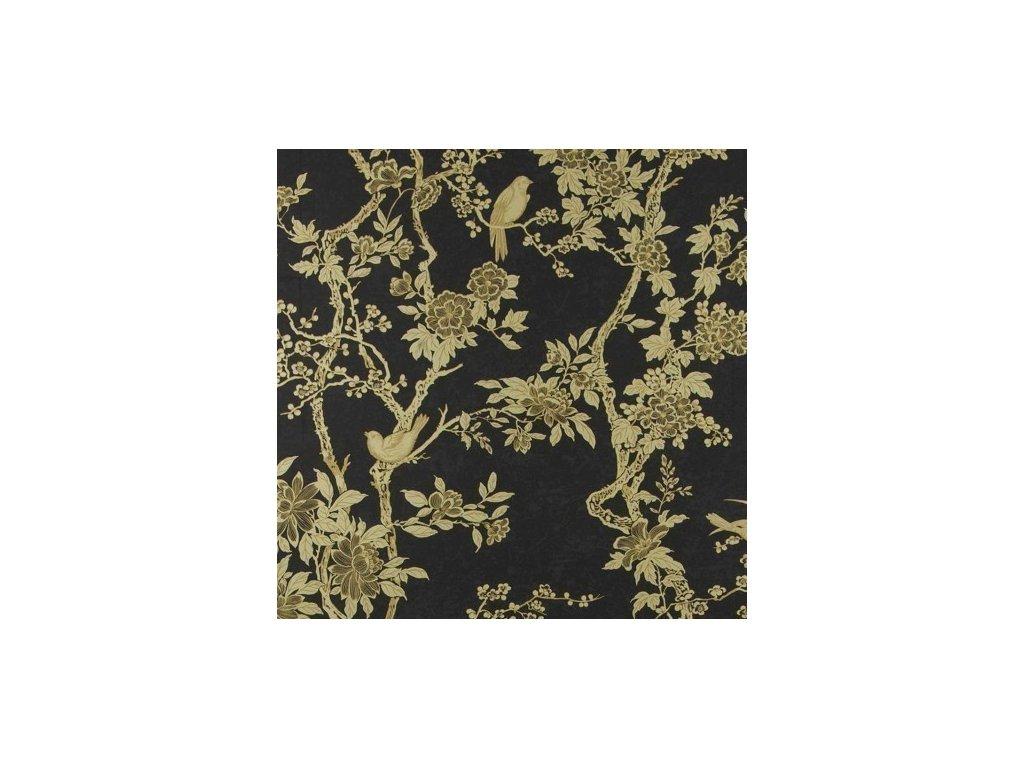 Marlowe Floral Black Wallpaper PRL048 02