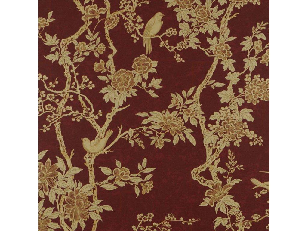 Marlowe Floral Red Wallpaper PRL048 03